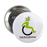 Punk Rock Wheelchair for Him Button