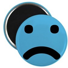 "Sad Face 2.25"" Magnet (100 pack)"