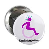 Punk Rock Wheelchair for Her Button