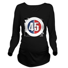 roundlogo45 Long Sleeve Maternity T-Shirt
