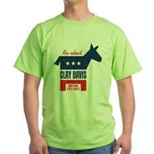 reelectClayDavis_tshirt_light T-Shirt
