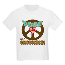 PEACE LOVE AND CHOCOLATE Kids T-Shirt
