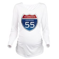 Interstate 55 - Lous Long Sleeve Maternity T-Shirt