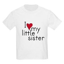 I love my little sister Kids T-Shirt