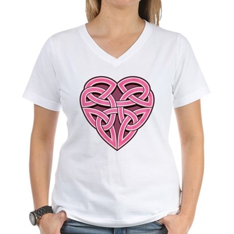 Bijii Heartknot Women's V-Neck T-Shirt