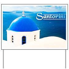 laptop_0023_greece santorini greece-2 Yard Sign