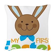 1stEasterBunny Woven Throw Pillow