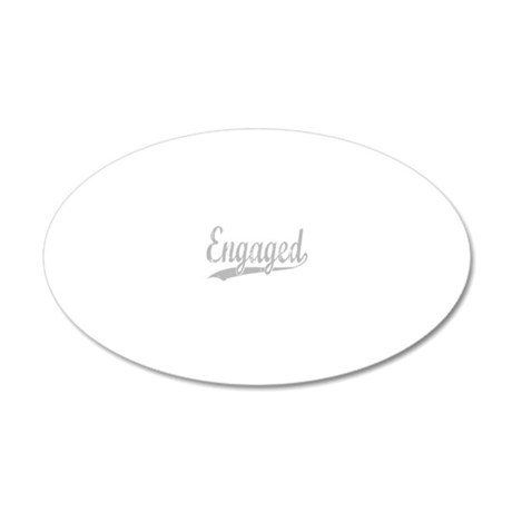 engaged for dark 20x12 Oval Wall Decal