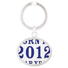 2012 blue Oval Keychain