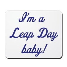 leap day baby blue Mousepad