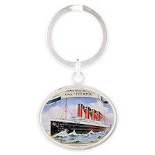 RMS_Titanic_1 Oval Keychain