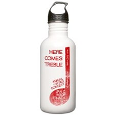 hereComesTreble_print_ Water Bottle