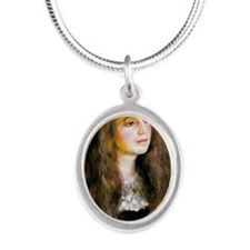 Renoir Mag62 Silver Oval Necklace