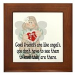 Good Friend's are like Angel' Framed Tile