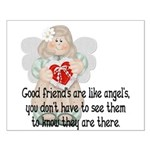 Good Friend's are like Angel' Small Poster