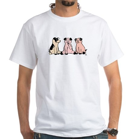 Three Pigs White T-Shirt