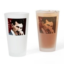 Tesla_white Drinking Glass