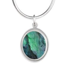 Night Flyers Silver Oval Necklace
