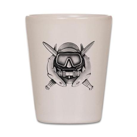 combat diver 10x10_apparel copy Shot Glass