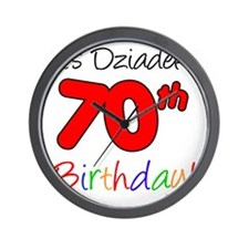 Dziadeks 70th Birthday Wall Clock