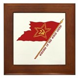 Workers Unite Flag Framed Tile