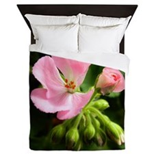 Geranium pink flower Queen Duvet