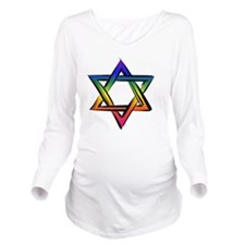 LGBT Star Of David Long Sleeve Maternity T-Shirt