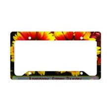 flowers05 License Plate Holder