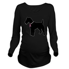 fox-terrier Long Sleeve Maternity T-Shirt