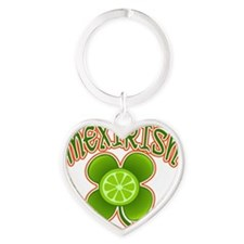 mexirish-lime Heart Keychain