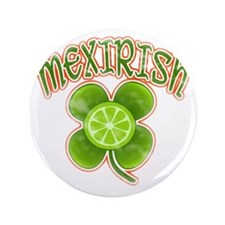 "mexirish-lime-vintage 3.5"" Button"