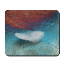 White Feather Mousepad