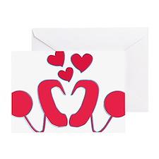 abstractci6-hearts Greeting Card