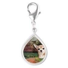 godmadedogs(button) Silver Teardrop Charm