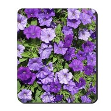 Purple Petunias Mousepad