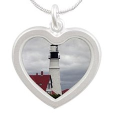 PHL Roses Card Silver Heart Necklace