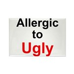 Allergic to Ugly Rectangle Magnet (100 pack)