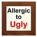 Allergic to Ugly Framed Tile
