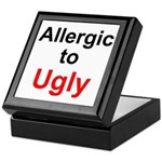Allergic to Ugly Keepsake Box