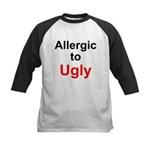 Allergic to Ugly Kids Baseball Jersey