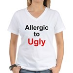 Allergic to Ugly Women's V-Neck T-Shirt