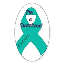 Ovarian_awareness_ribbon_round Decal