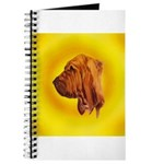 Beautiful Bloodhound Head stu Journal