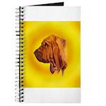 Beautiful Bloodhound Head stu Journal