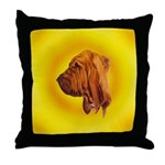 Beautiful Bloodhound Head stu Throw Pillow