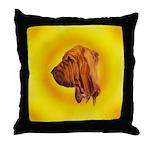 Beautiful Bloodhound Head stu Throw Pillow