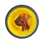 Beautiful Bloodhound Head stu Wall Clock