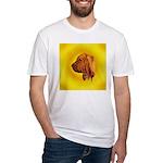 Beautiful Bloodhound Head stu Fitted T-Shirt