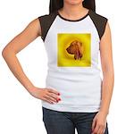 Beautiful Bloodhound Head stu Women's Cap Sleeve T