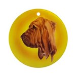 Beautiful Bloodhound Head stu Ornament (Round)
